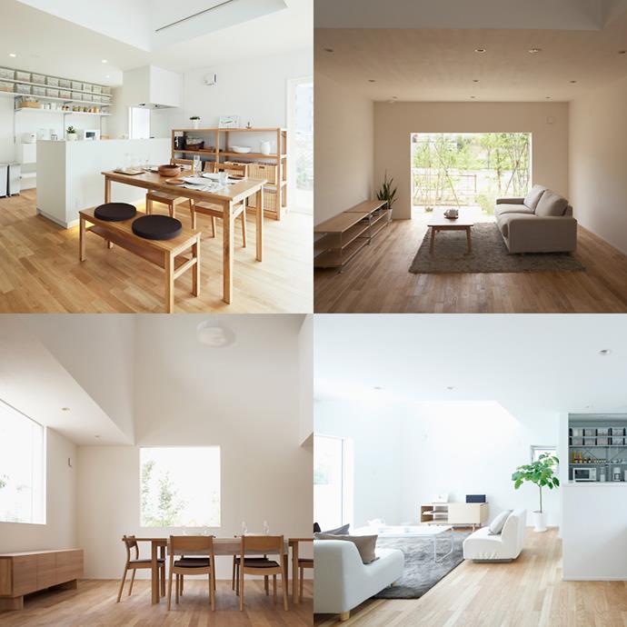 The interior of Muji's 'Window House'.
