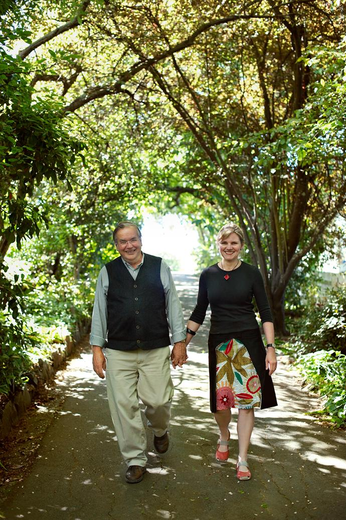 """Howard is the chief gardener but he defers to his artist wife when it comes to textures and design. That leaves Melissa with the luxury of treating the garden as a resource rather than a labour. """"I'm the one who picks herbs and vegies for dinner. I reap the benefits of the space and the harvest."""""""