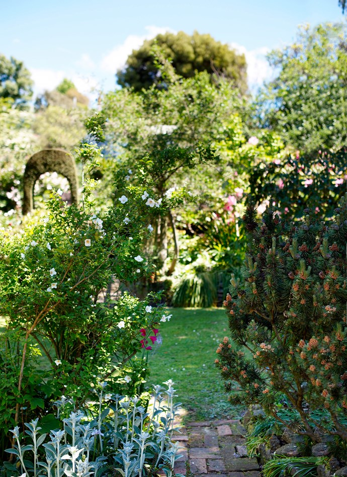 Pathways meander through the garden, with vistas at every turn.