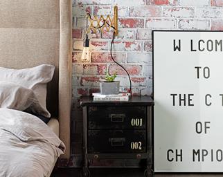 DIY industrial bedside lamp