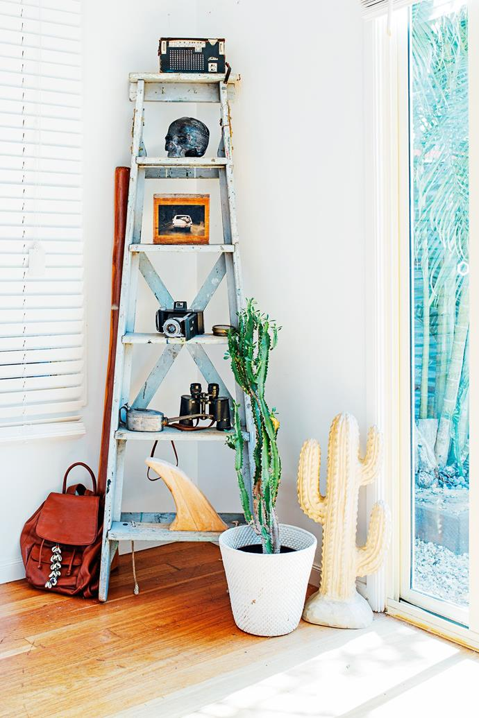 """In this [cute-as-a-cacti corner](http://www.homestolove.com.au/gallery-chris-and-celestes-treasure-filled-house-2266