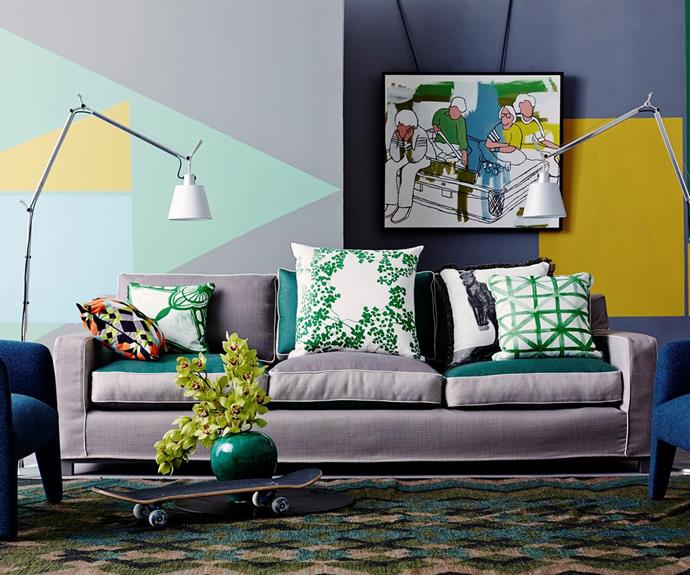 """Another unusual yet totally-chic pairing is this [houseplant and skateboard combination](http://www.homestolove.com.au/dreamy-decorating-tips-that-make-a-home-your-own-3615