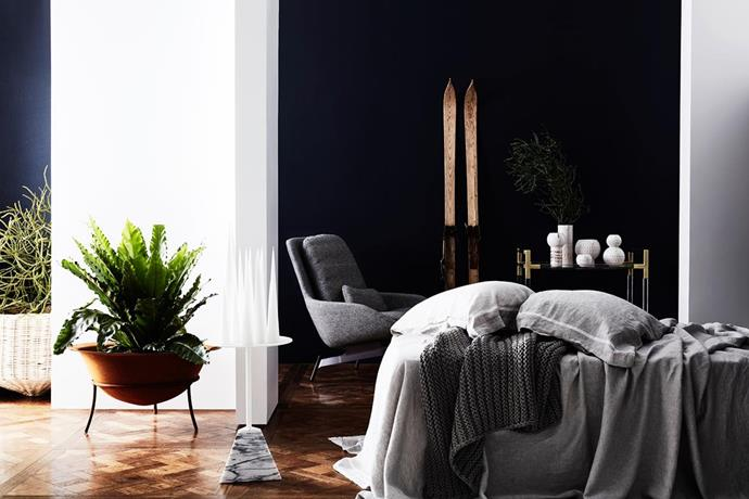 """In this [bedroom](http://www.homestolove.com.au/hot-stuff-a-guide-to-heaters-3760