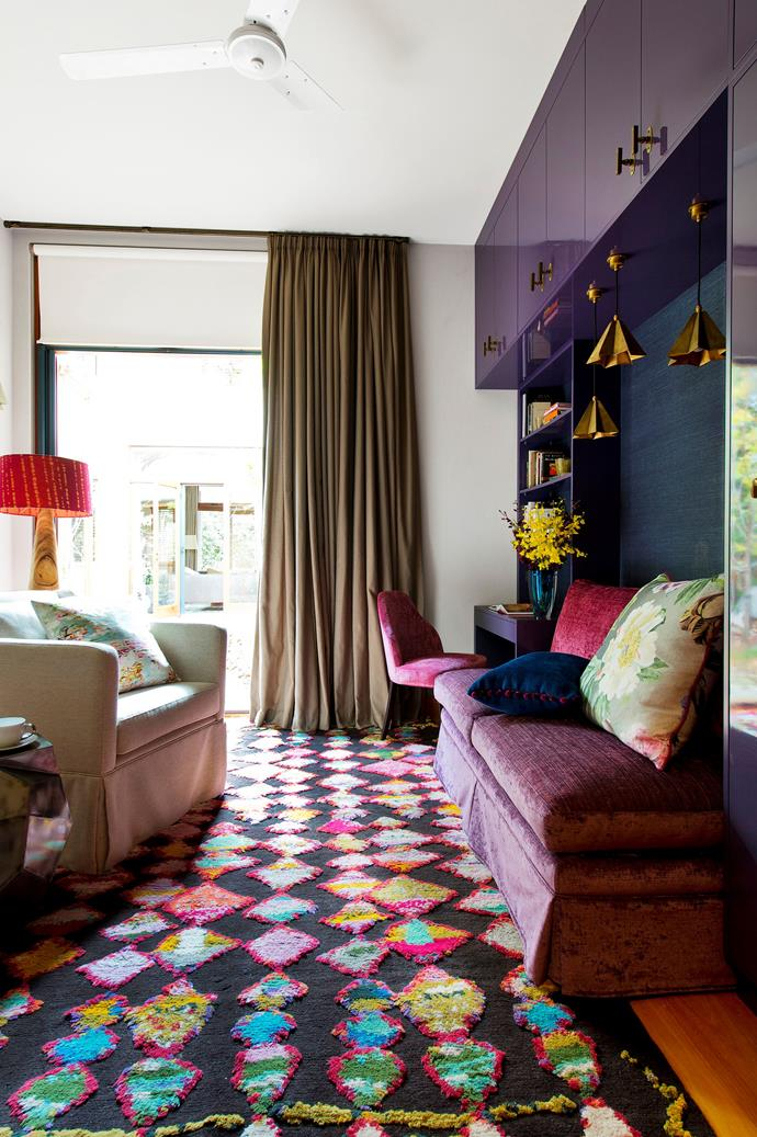 """**2015:** Purple Reign by [Judith Barrett-Lennard Interior Design](http://www.jbldesign.com.au/