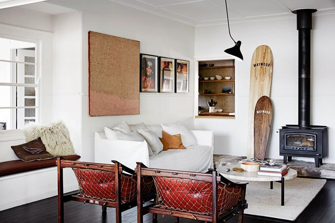 "Combine precious finds from just about anywhere, as ex *real living* Editor, Deb Bibby has done in her [Pittwater beach shack](http://www.homestolove.com.au/pittwater-beach-shack-gets-a-heartfelt-renovation-3064|target=""_blank"")."