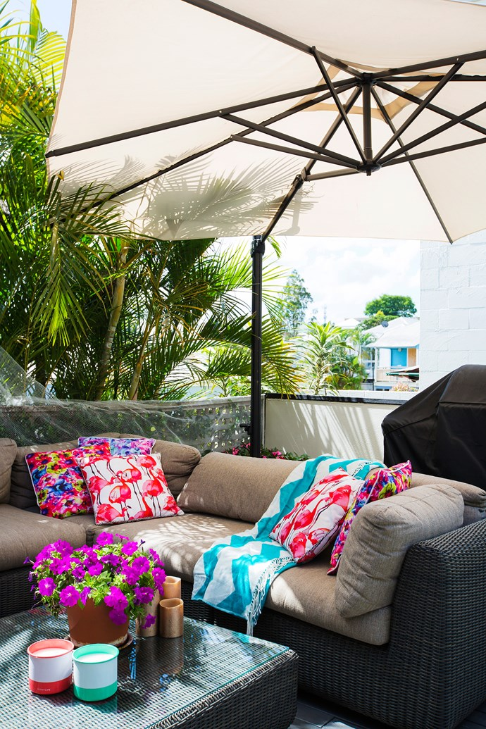 There's plenty of space for lounging, dining and cooking on the deck.