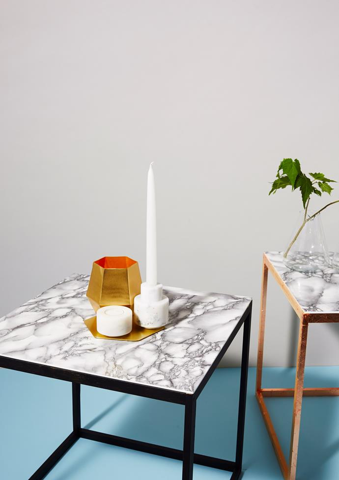 Marble and metallics are a match made in heaven. Photo: Chris Jansen/bauersyndication.com.au