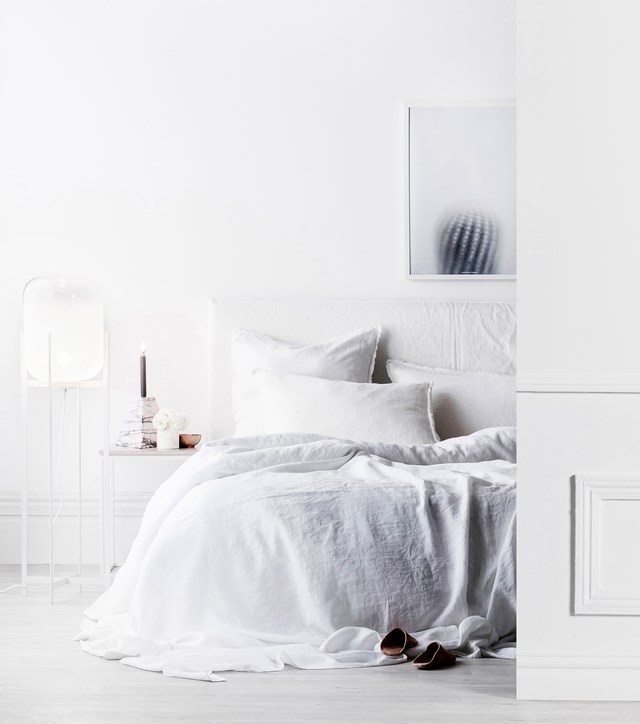 White's a must for minimalist decors – but many people tumble into the trap of thinking all whites are the same. Far from it. And don't overdo white, or you could end up with white-out, that eye-popping feeling of being on the piste without goggles. Subtly mix your whites throughout the room, so they are not identical, but also not glaringly different.