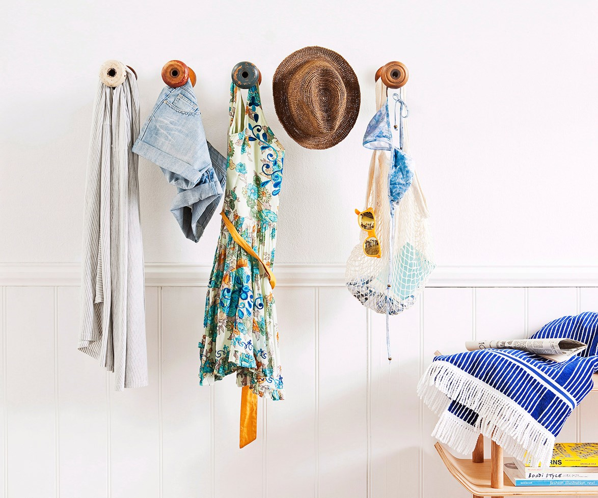 """**Decorative hooks** [Wall hooks](http://www.homestolove.com.au/3-wall-storage-solutions-4064