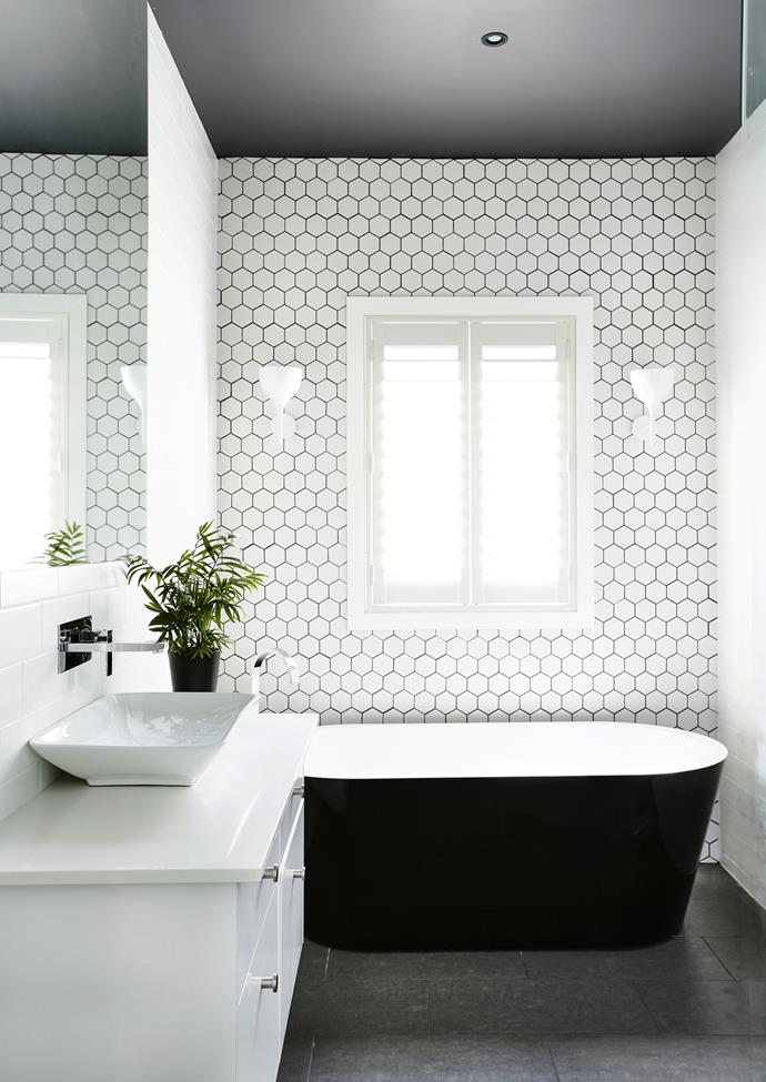 **Add some greenery.** Plants can work with whatever space you have making them an ideal finishing touch for a small bathroom. Be guided by your bathroom's limitations when it comes to selection, and remember, no matter how small your shrubbery, it will add a calming balance to the room. *Photo: XX / bauersyndication.com.au*