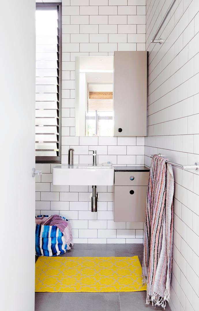 **Narrow your choice.** Wall-mounted cabinets work well in small bathrooms. Opt for ingenious narrow units that can stow a surprising amount, yet take up very little space. *Photo: Angelita Bonetti / bauersyndication.com.au*