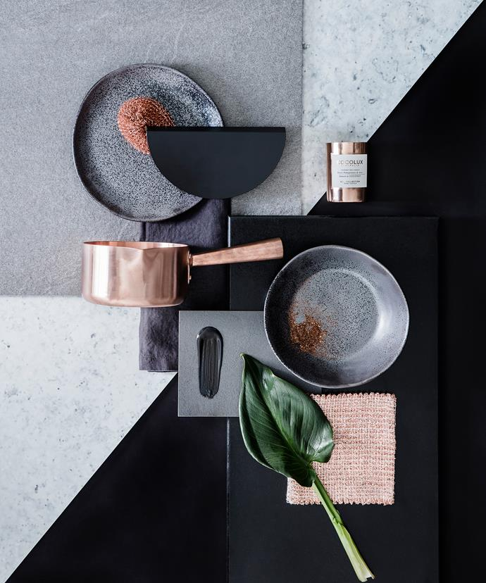 We love this glam combo of black and copper!