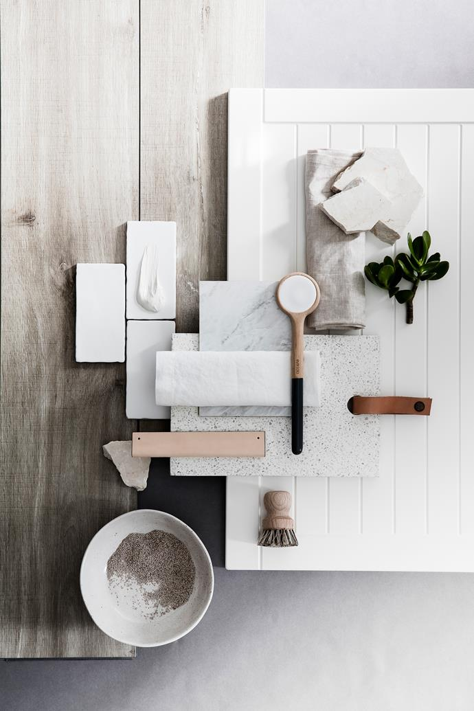 Fresh whites and pale timbers create a light and calm space.