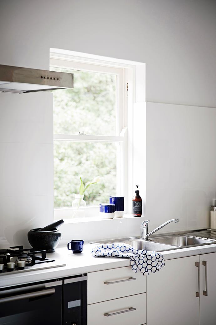 Details and finishes were kept simple in the kitchen. It was important that they would be hard-wearing for when the couple rent out the apartment one day.