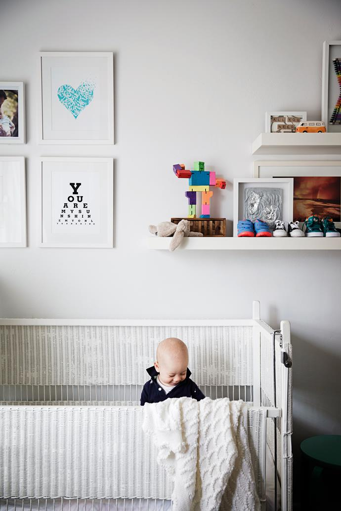 """Containing clutter was important, too. """"We were adamant that we didn't want our home to be mistaken for a toy shop – this meant a designated area for toys and books,"""" Sophie says."""