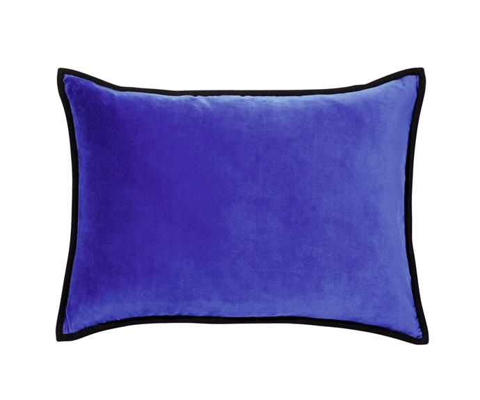 "Élitis 'Orphée' velvet cushion, $243, from [Seneca](http://seneca.co.nz/|target=""_blank""