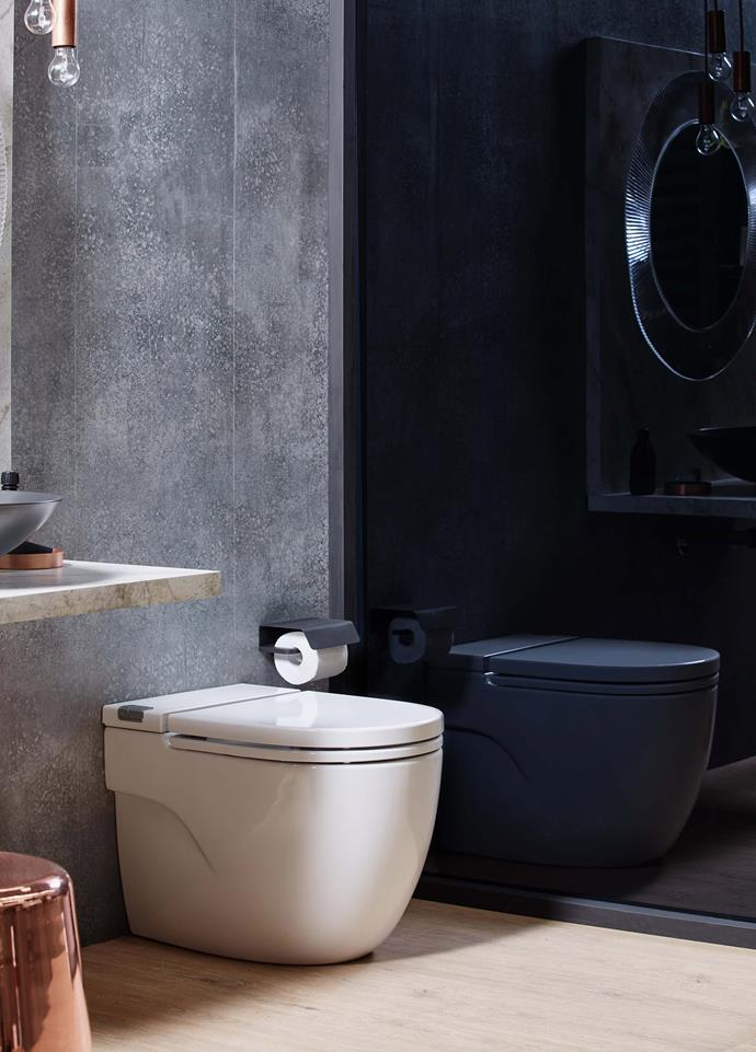 """**Opt for an integrated cistern.** Traditional toilets can be bulky, taking up more space than you realistically have in a small bathroom. Look for an innovative integrated design instead. Try [Roca Meridian In-Tank Back to Wall Pan](https://fave.co/2uOuPOl target=""""_blank"""" rel=""""nofollow"""") which integrates the cistern and buttons into the pan for a compact solution that looks seriously stylish. *Photo: supplied.*"""