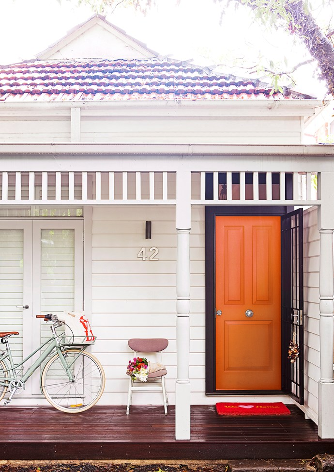 Gold bold with your front door to create an eye-catching entry to your home. *Photo: Chris Warnes / bauersyndication.com.au*