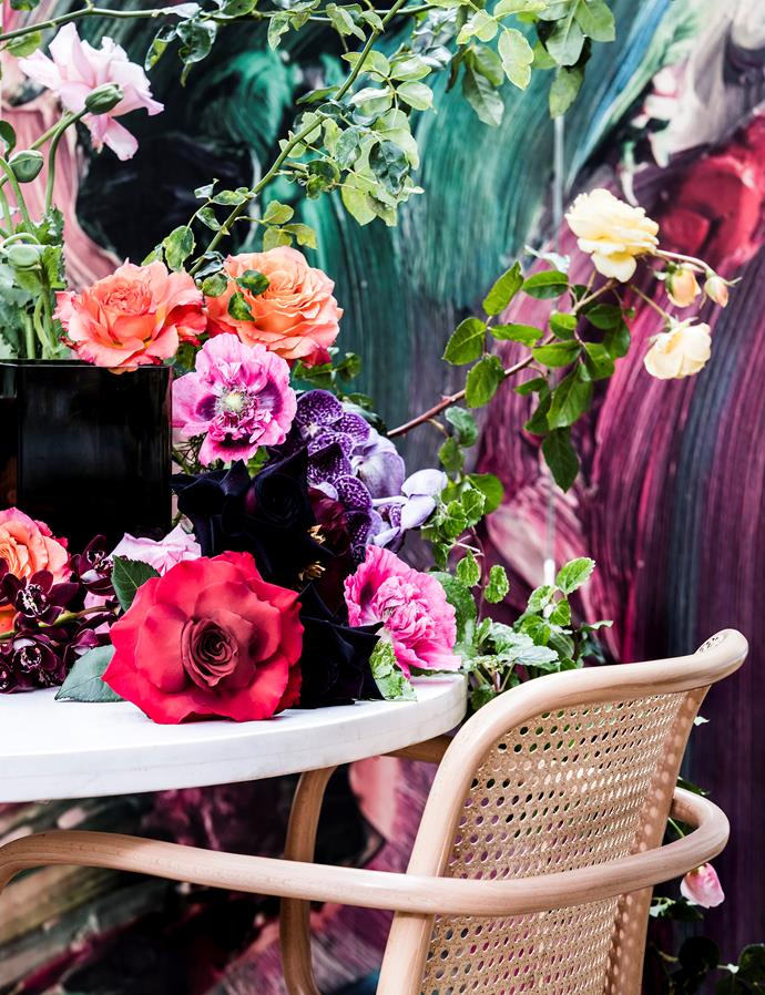 """""""If there's a lot going on in the room, keep the flowers simple. If you have a minimalist space, go wild and create a floral feature for the room."""" - **Floral designer Jai Winnell from [Hermetica Flowers](http://hermeticaflowers.com.au/