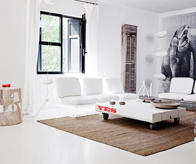 Monochrome home with touches of timber