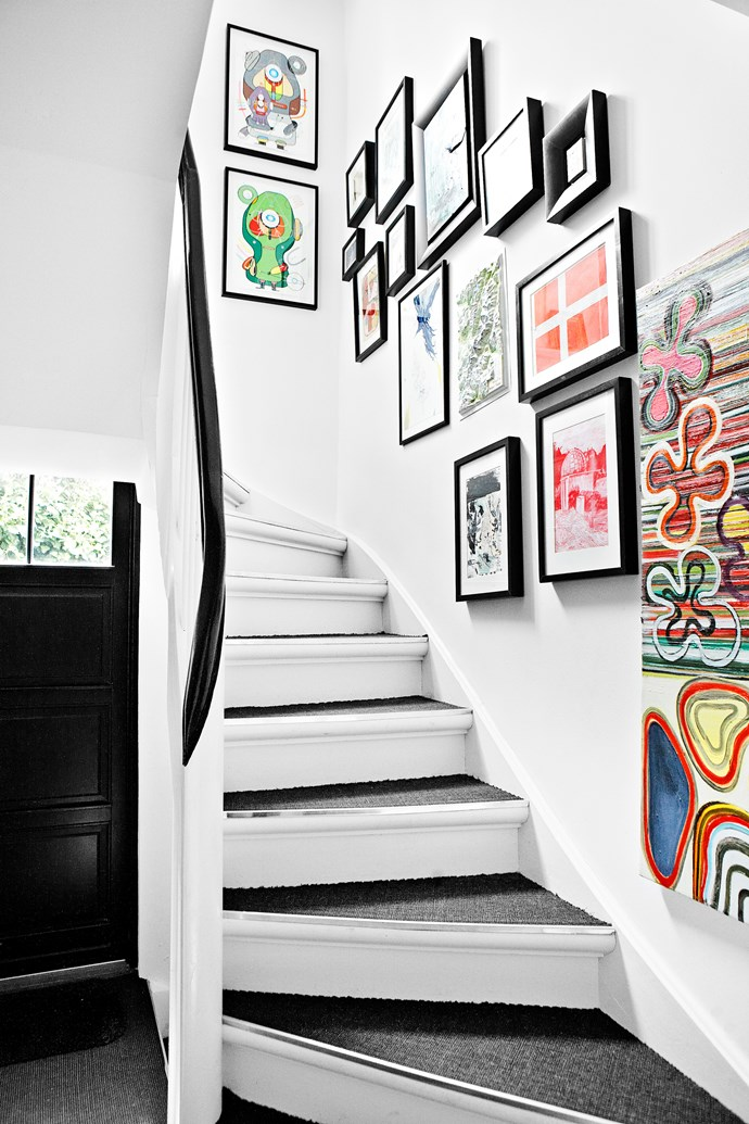 """""""We wanted a lot of space but, typically, these types of buildings have a large central staircase that takes up much of the interior area, making the rooms very small,"""" Morten says, """"so we relocated the staircase at the back of the house."""""""