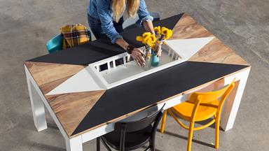 Upcycling project: Dining table with a difference