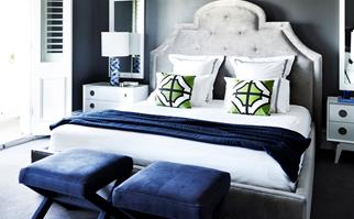 moody and sophisticated bedroom