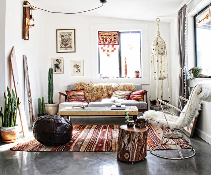 boho style cabin