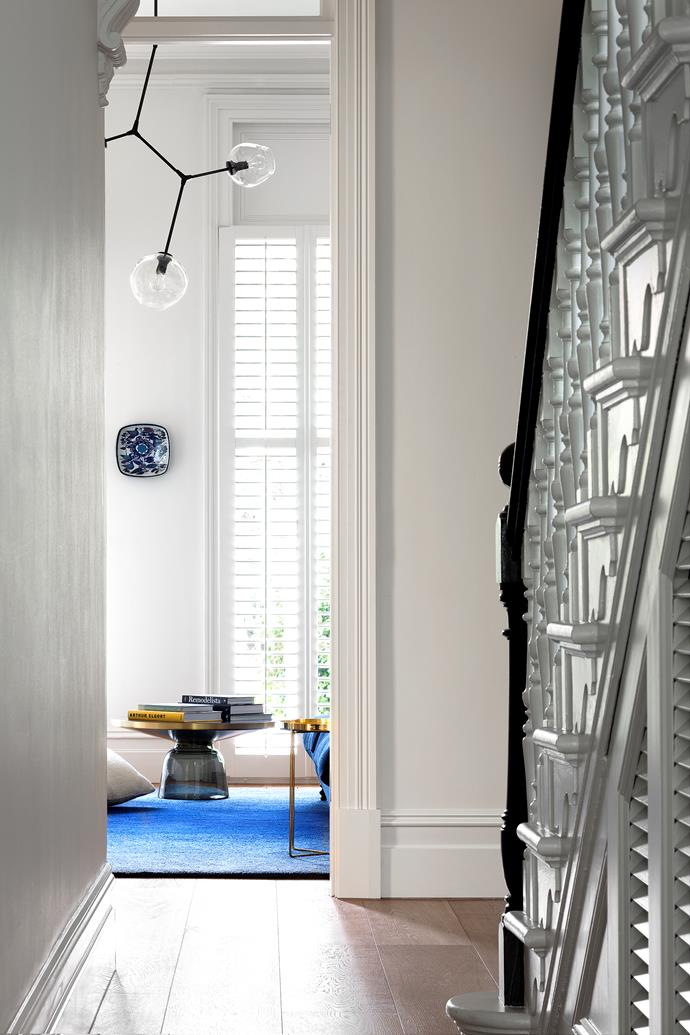 """We wanted to remain sensitive to the period features of the house and preserve the idea of 'the formal room' but make it feel contemporary and connected through quality and material,"""" says Hamish Guthrie of [Hecker Guthrie Design](http://www.heckerguthrie.com/