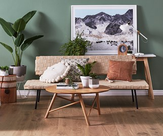 Living room timber floor