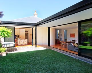 l-shaped house extension