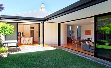 L-shaped extension lets the light shine in