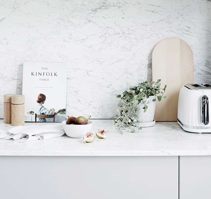 """**ON BENCH** Olsen salt and pepper **grinders**, $49.95 each, and Tynne **teatowel**, $34.95 (set of 3), [Country Road](https://www.countryroad.com.au/