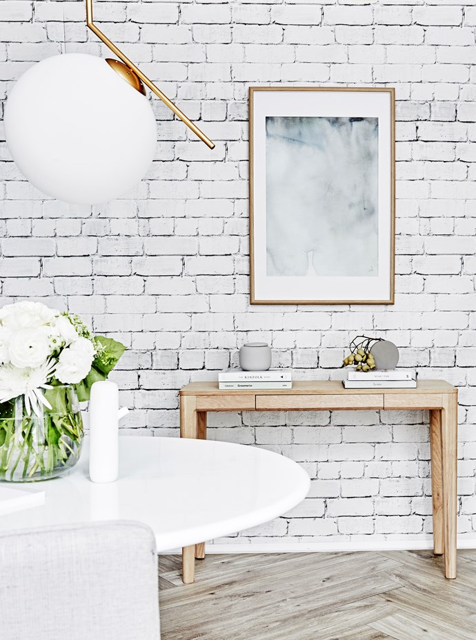 """Soft grey and white grace the Clubhouse Bricks **wallpaper** from [Milton & King](https://au.miltonandking.com/