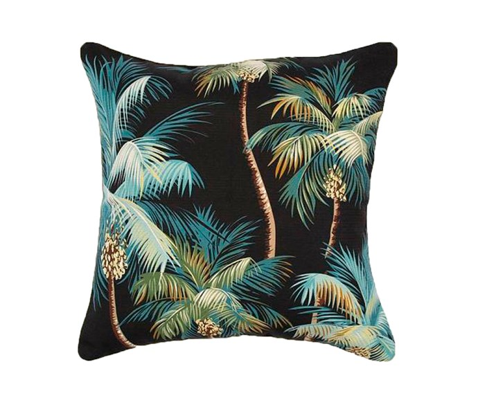 """Haven Palm Trees outdoor cushion, $79.95, [Zanui](https://fave.co/2T5XVTp