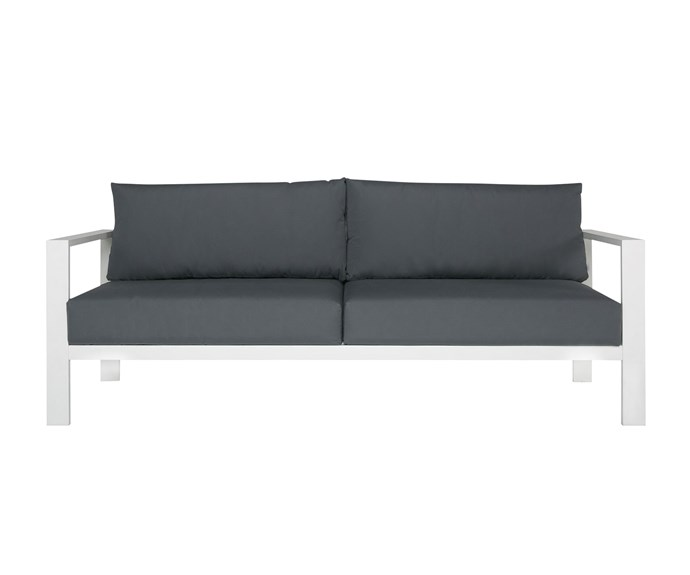 "Torquay 3-seat *sofa* in White, $699, [Freedom](https://www.freedom.com.au/furniture/shop-new-outdoor-looks/torquay-limited-edition-outdoor-sofa/23860438/torquay-3-seat-aluminium-outdoor-sofa-white?istcompanyid=3de1deb7-1066-4c5b-8182-e8ceaa5b620e&istitemid=xaxwmaixmi&istbid=tztx&gclid=CjwKCAiA1ZDiBRAXEiwAIWyNC1DBxZbd6yp0pa7l03nI62_ELv9X1X6zOstbtPlWvEM5r2FFk-RRZxoCHuIQAvD_BwE&gclsrc=aw.ds|target=""_blank""|rel=""nofollow"")"
