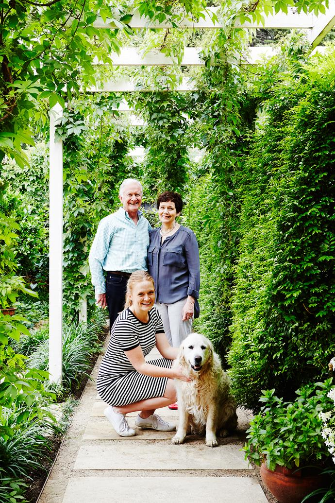 "Creating the garden has been a 30-year pursuit for Marg and Rob, who share the home with their two adult daughters, Alison and Lucy and their golden retriever, Molly. ""When we bought the property, the garden was practically nonexistent,"" says Rob. ""Just a couple of trees and five camellias in an otherwise barren space."""