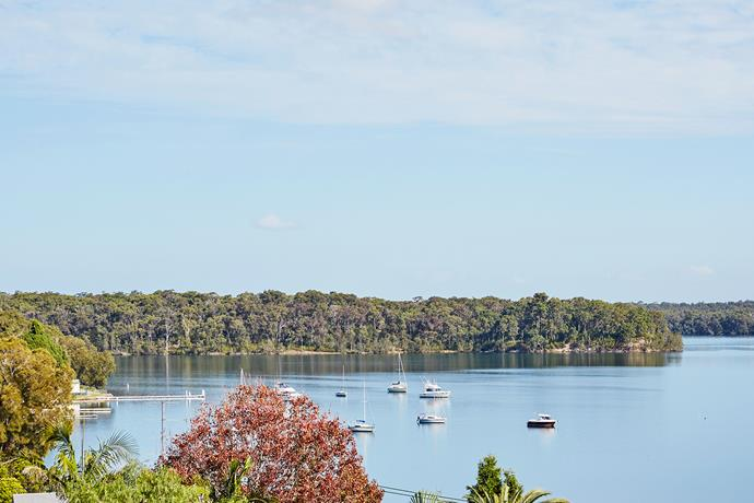 The outlook over Lake Macquarie was a selling point for the family.
