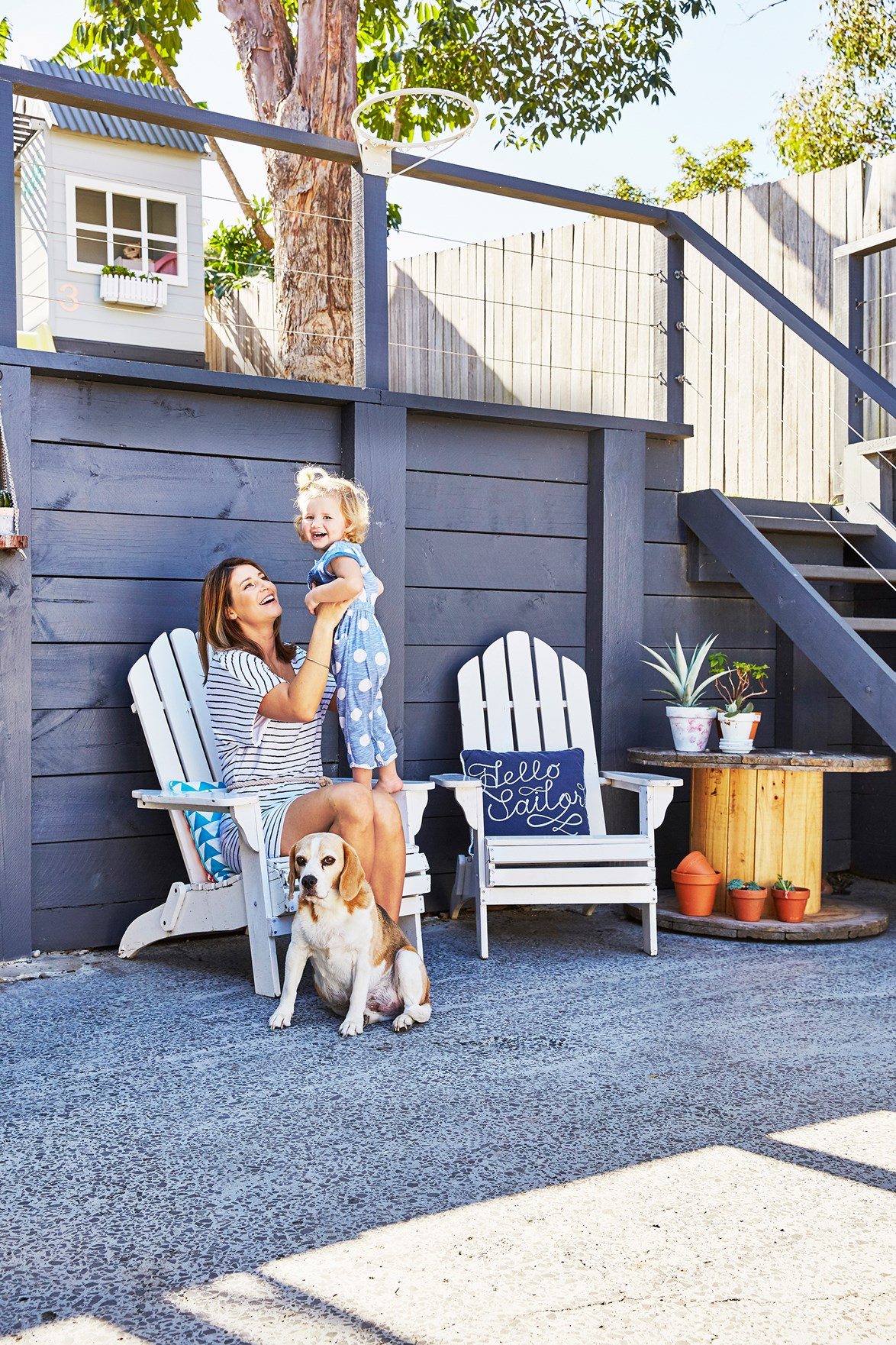 """Hamptons meets upcycling at this [coastal home near Lake Macquarie](https://www.homestolove.com.au/coastal-style-on-a-budget-4230