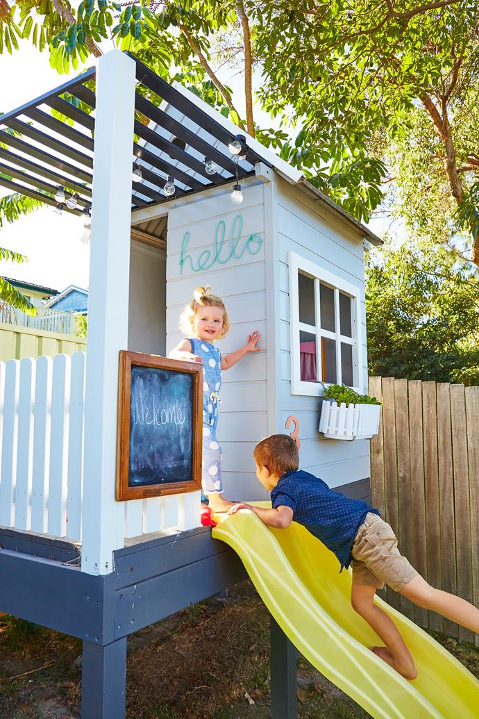 Anna and Aaron also renovated the second-hand cubby house.