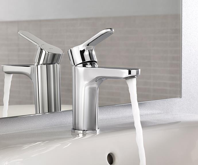 Finishing touches like tapware and lighting can play a strong role in energy saving. Photography: supplied