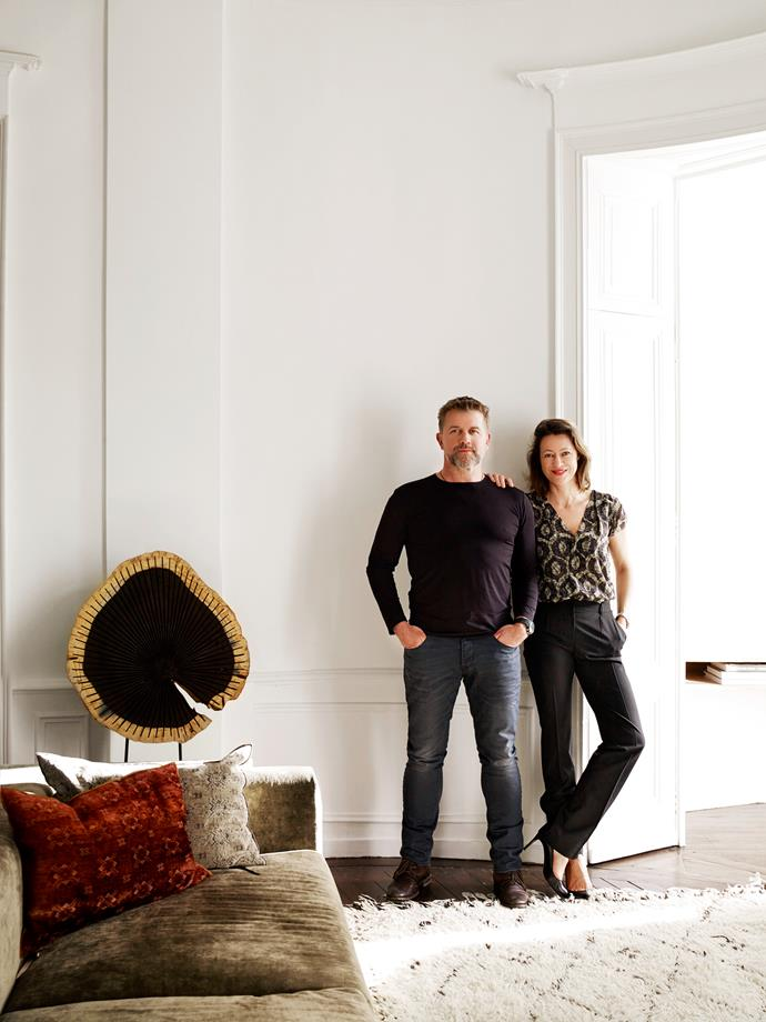 """Writer, Jeremy Callaghan and photographer, Gaelle Le Boulicaut spent six solid moths renovating the apartment. """"We approached it as a restoration rather than a renovation. Many floorboards dated from 1865 and had to be replaced so I rummaged around for old building materials and found a good match,"""" says Jeremy."""
