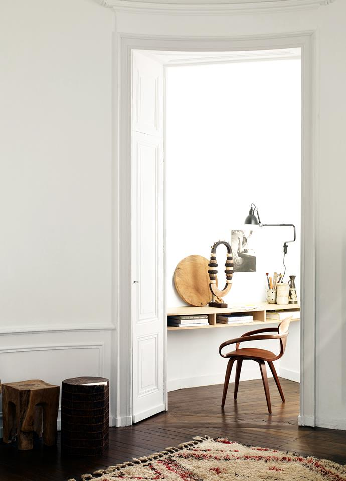 """The [home office](http://www.homestolove.com.au/luxe-apartment-tour-work-and-home-in-one-3954