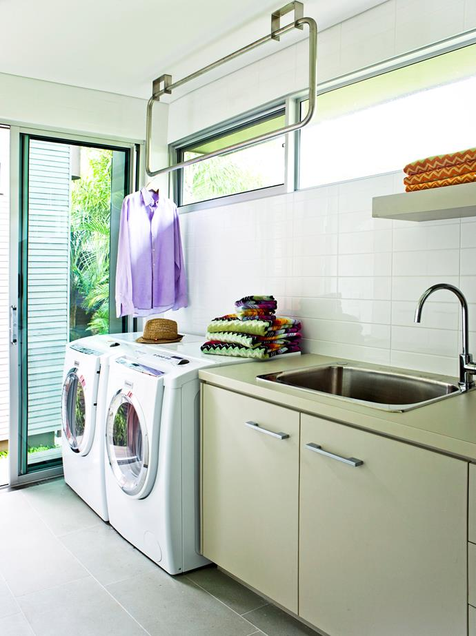 If there's space, include a rail for airing or drying. Photo: bauersyndication.com.au