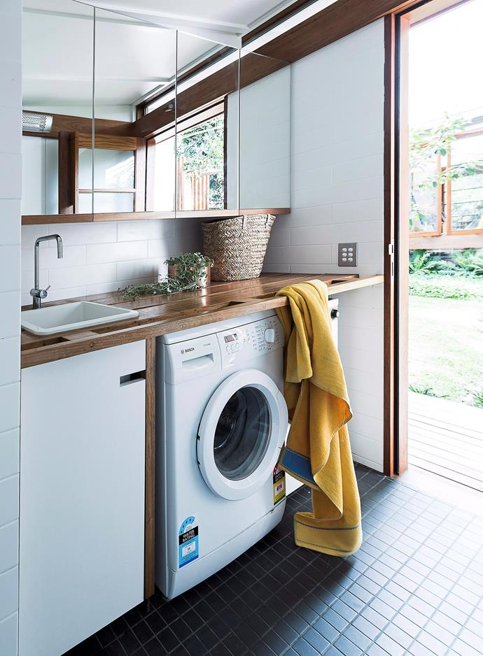 The timber finishes in this laundry provide warmth and a timeless appeal. Photo: bauersyndication.com.au