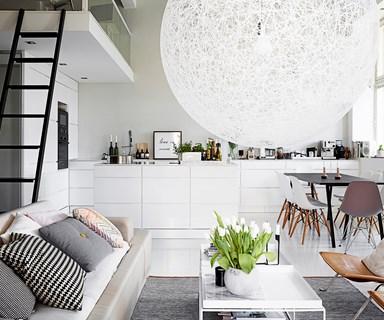 An open-plan loft designed for entertaining