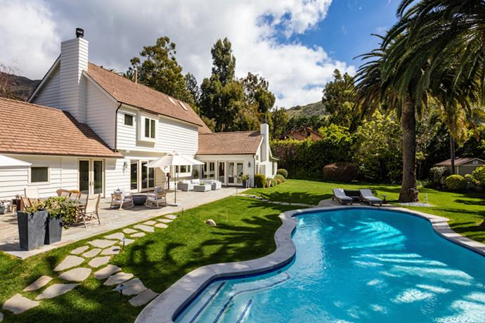 """*Grey's Anatomy* star, Patrick Dempsey, recently purchased this $6.4M Malibu home with wife Jillian Fink. The generous 4,415 square foot property boasts a tennis court and this totally 'McDreamy' swimming pool. Image via [Coldwell Banker](https://www.coldwellbanker.com/