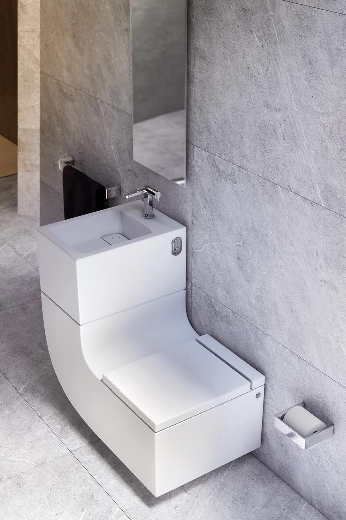 """**Shop for sustainable statement pieces.** Worried that reclaimed materials won't quite fit in with your luxe minimalist bathroom? Don't be. Impressive designs still exist in the sustainable world. Take this stylish [Roca W+W Integrated Washbasin](http://www.reece.com.au/bathrooms/products/roca/roca-w-w-integrated-washbasin-9505427