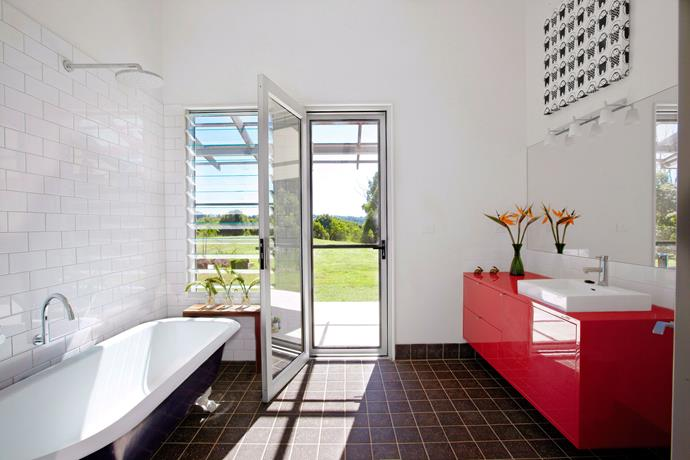 """**Maximise natural resources.** The best types of resources in a """"green"""" bathroom are those available naturally. Maximise on natural light by installing large windows or a glass door if space allows. Not only will your bathroom be flooded with natural light and fresh air, but your eco footprint will be rewarded. *Photography: Scott Hawkins / bauersyndication.com.au*"""