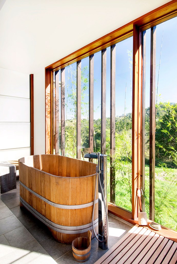 **Try a timber bath.** If you're looking for a focal point with an environmental touch, consider a bespoke wooden bath or basin crafted out of recycled wood. It will add instant wow factor to your bathroom and can easily work in a contemporary or traditional space. *Photography: Steve Ryan / bauersyndication.com.au*